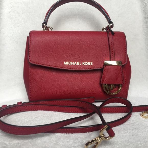 32946e21ada6 Michael Kors Bags | Sold Red Cherry Extra Small Ava | Poshmark